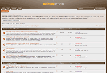 malware removal forum